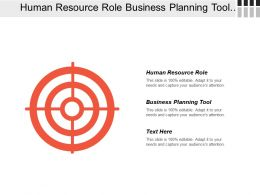 Human Resource Role Business Planning Tool Wealth Development