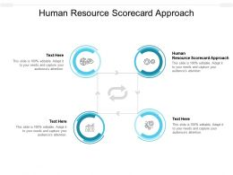 Human Resource Scorecard Approach Ppt Powerpoint Presentation Icon Tips Cpb
