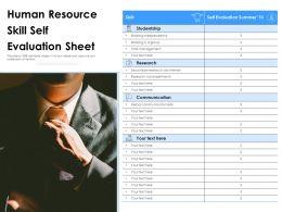 Human Resource Skill Self Evaluation Sheet