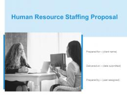 Human Resource Staffing Proposal Powerpoint Presentation Slides