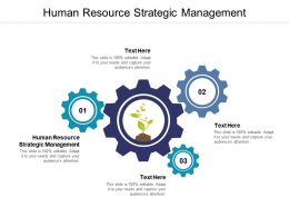 Human Resource Strategic Management Ppt Powerpoint Presentation Model Icons Cpb
