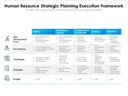 Human Resource Strategic Planning Execution Framework