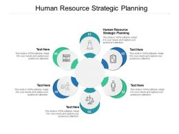 Human Resource Strategic Planning Ppt Powerpoint Presentation Diagrams Cpb