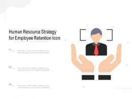 Human Resource Strategy For Employee Retention Icon