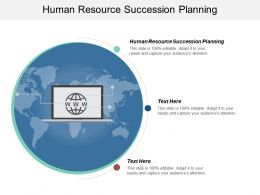 Human Resource Succession Planning Ppt Powerpoint Presentation Gallery Slide Portrait Cpb
