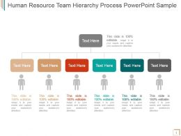 Human Resource Team Hierarchy Process Powerpoint Sample