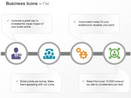 human_resource_tele_conference_business_settings_four_different_directions_ppt_icons_graphics_Slide01