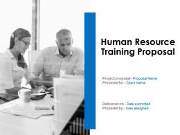 Human Resource Training Proposal Powerpoint Presentation Slides