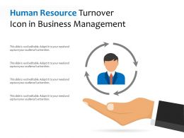 Human Resource Turnover Icon In Business Management