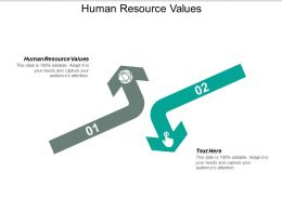 Human Resource Values Ppt Powerpoint Presentation Layouts Slideshow Cpb