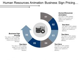 Human Resources Animation Business Sign Pricing Company Advertisement Poster Cpb