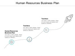 Human Resources Business Plan Ppt Powerpoint Presentation Model Show Cpb