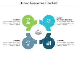 Human Resources Checklist Ppt Powerpoint Presentation Pictures Outline Cpb