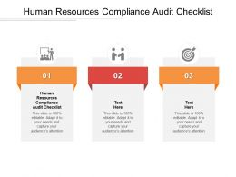 Human Resources Compliance Audit Checklist Ppt Powerpoint Show Microsoft Cpb