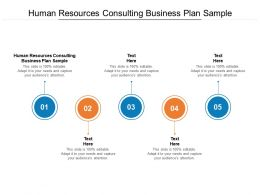 Human Resources Consulting Business Plan Sample Ppt Powerpoint Graphics Cpb