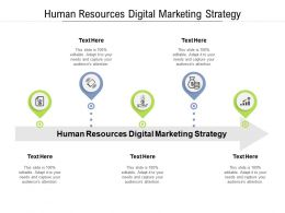 Human Resources Digital Marketing Strategy Ppt Powerpoint Presentation Portfolio Template Cpb