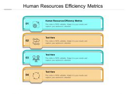 Human Resources Efficiency Metrics Ppt Powerpoint Presentation Layouts Slides Cpb
