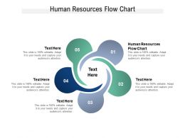 Human Resources Flow Chart Ppt Powerpoint Presentation Outline Gridlines Cpb