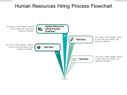 Human Resources Hiring Process Flowchart Ppt Powerpoint Show Layout Cpb
