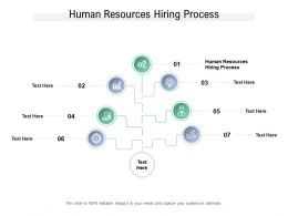 Human Resources Hiring Process Ppt Powerpoint Presentation Outline Demonstration Cpb