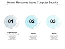 Human Resources Issues Computer Security Ppt Powerpoint Show Slides Cpb