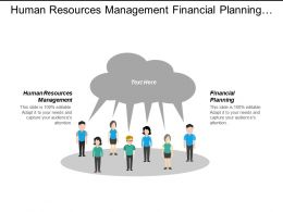 Human Resources Management Financial Planning Promotions Financial Management Cpb