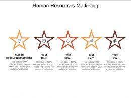 Human Resources Marketing Ppt Powerpoint Presentation Professional Grid Cpb