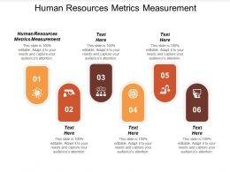 Human Resources Metrics Measurement Ppt Powerpoint Presentation Show Template Cpb