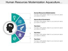 Human Resources Modernization Aquaculture Governance Frequent Reliable Departures