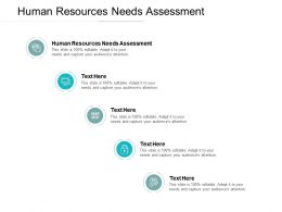 Human Resources Needs Assessment Ppt Powerpoint Presentation Professional Files Cpb