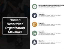 Human Resources Organization Structure Ppt Powerpoint Presentation Portfolio Show Cpb