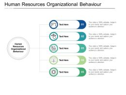 Human Resources Organizational Behaviour Ppt Powerpoint Presentation Portfolio Graphics Cpb