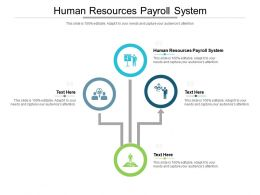 Human Resources Payroll System Ppt Powerpoint Presentation Inspiration Visuals Cpb