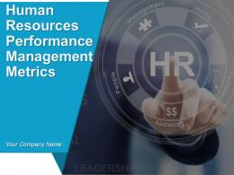 Human Resources Performance Management Metrics Powerpoint Presentation Slides
