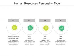 Human Resources Personality Type Ppt Powerpoint Presentation Ideas Topics Cpb