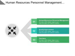 Human Resources Personnel Management Quality Improvement Portfolio Management Cpb