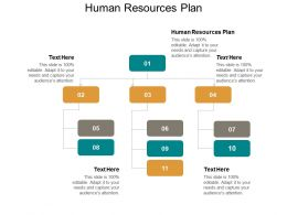 Human Resources Plan Ppt Powerpoint Presentation Gallery Graphics Tutorials Cpb