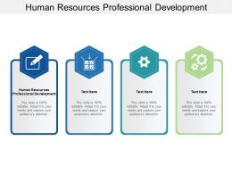 Human Resources Professional Development Ppt Powerpoint Presentation Summary Clipart Cpb