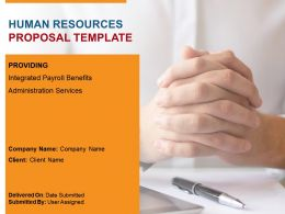 Human Resources Proposal Template Powerpoint Presentation Slides