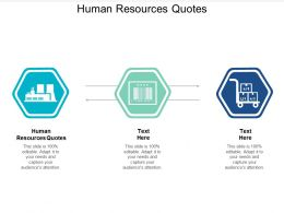 Human Resources Quotes Ppt Powerpoint Presentation Infographics Rules Cpb