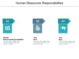 Human Resources Responsibilities Ppt Powerpoint Presentation Summary Slides Cpb