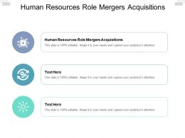 Human Resources Role Mergers Acquisitions Ppt Powerpoint Topics Cpb