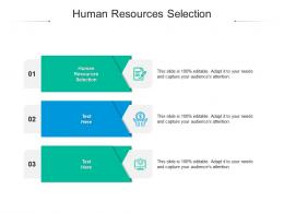 Human Resources Selection Ppt Powerpoint Presentation Inspiration Visual Aids Cpb