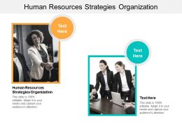 Human Resources Strategies Organization Ppt Powerpoint Presentation Gallery Cpb