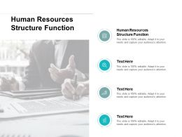 Human Resources Structure Function Ppt Powerpoint Presentation Inspiration Microsoft Cpb