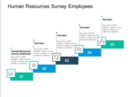 Human Resources Survey Employees Ppt Powerpoint Presentation Outline Format Ideas Cpb