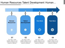 Human Resources Talent Development Human Capital Promotional Element