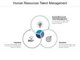Human Resources Talent Management Ppt Powerpoint Presentation Infographic Template Cpb