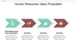 Human Resources Value Proposition Ppt Powerpoint Presentation Icon Design Templates Cpb