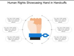 Human Rights Showcasing Hand In Handcuffs